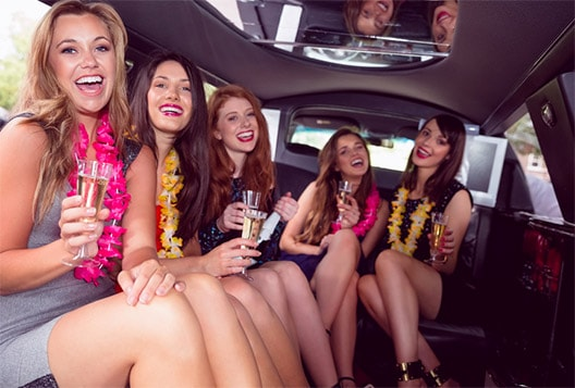 Party inside a Limousine